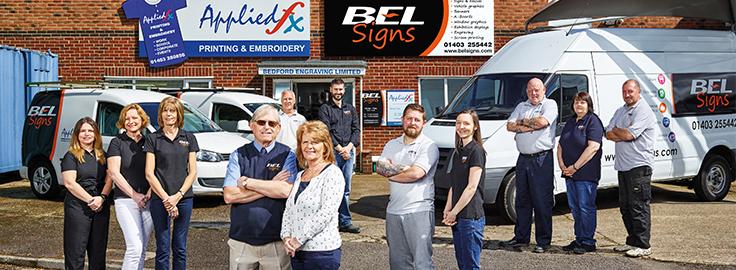 BEL Signs Staff