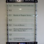 Belgrave House Way finding sign