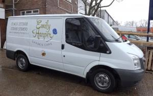 Emily Harper Garden Care - New signwritten Van