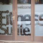 Frosted effect window graphics