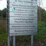 Hospital Way Finding sign
