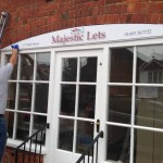 Majestic lets - Fascia sign installation