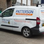 Patterson's Ford Courier Van with new graphics
