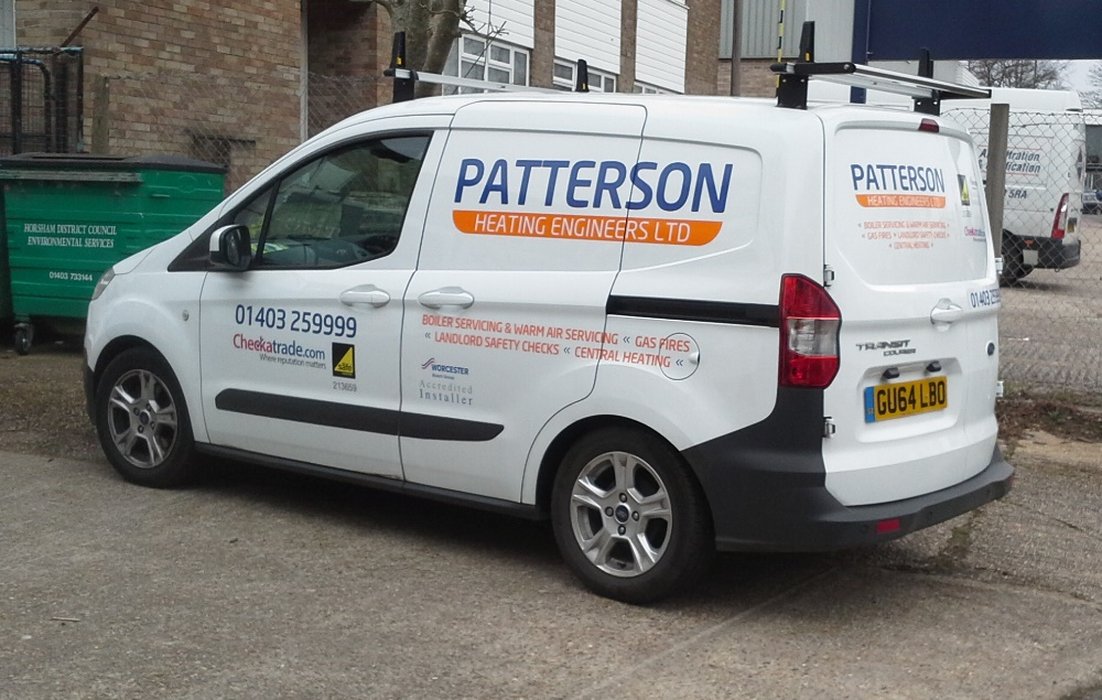 Vehicle Graphics Van BEL Signs Horsham