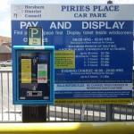 Piries Place Car Park Sign