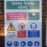 Site Safety Board with shaped top and branding