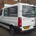 TMC Construction VW Transporter with Vehicle graphics