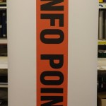 Roll up banner ideal for temporary signage use