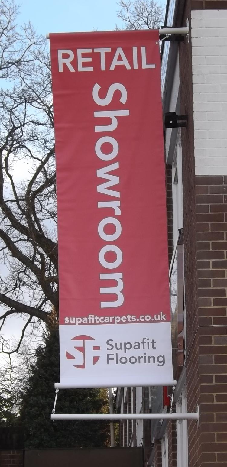 Supafit hanging banner