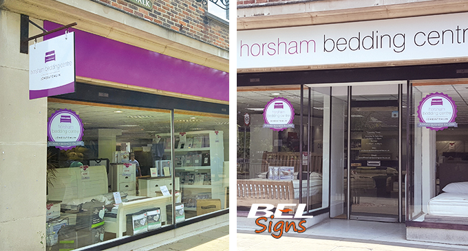 Shop signage and window decals