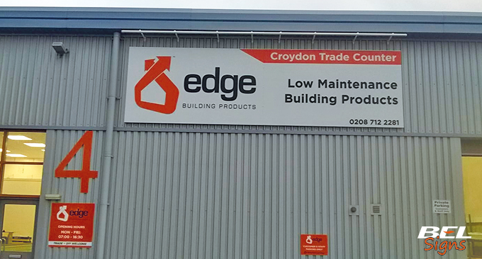 BEL Signs Edge Building Products Exterior Front
