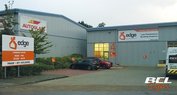 BEL Signs Edge Building Products South London