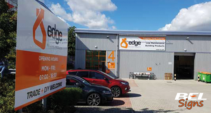 BEL Signs Edge External Premises Signage