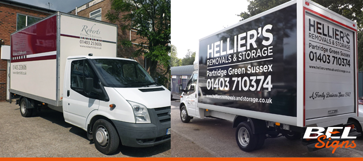 Luton and Box Van Graphics