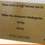 Brass Plaque for Surrey School