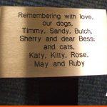 Pet memorial plaque | BEL Signs Horsham