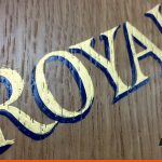 Close up work of our traditional hand signwriting