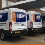 Long Wheel Based vans with Fleet Graphics