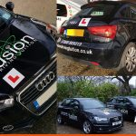 Car Signwriting on Audi for Sussex based Driving Company