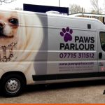 Large format print and wrap onto a Long Wheel Based van | Pet Groomer | South East Signage