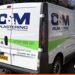Vauxhall Vivaro for C&M Plastering Southwater | Sussex based vehicle graphics