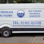 LWB van with large graphics on all sides