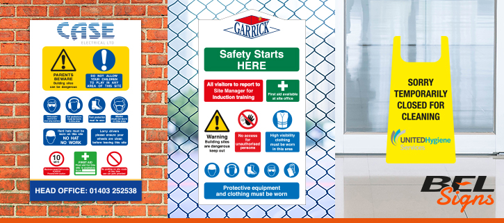 Bespoke Health and Safety Signage by BEL Signs