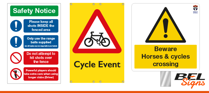 Health and Safety Examples | BEL Signs Horsham