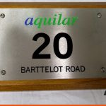 Engraved Plaque with infill detail