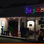Coloured light for shop signage