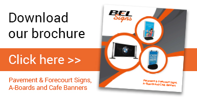 BEL Signs Pavement Signs Brochure Button