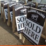 A-Boards for local butchers at market