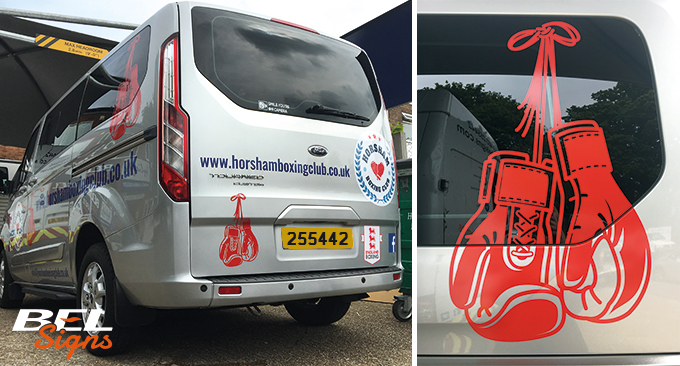 Minibus graphics for Horsham Boxing