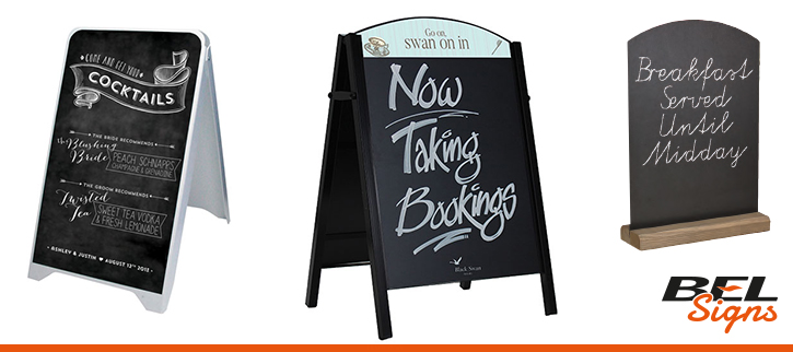 Chalkboard Pavement Signs | BEL Signs