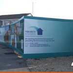 Construction Site Hoardings with printed images and branding