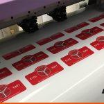 Window stickers cut to shape