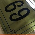Engraved Number Plaque