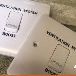 Ventilation System switch engraved with details
