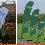 Flags for outdoor use at events and as advertising