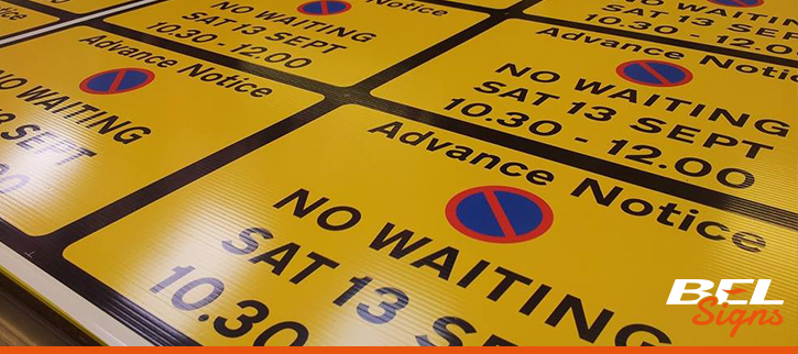 No waiting signs for Traffic Management