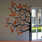 Wall CAD Cut Vinyl as a simple tree