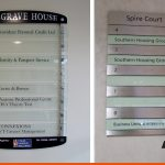 Directory signs can be a range of materials