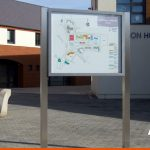 Notice Boards are ideal for wayfinding like this one with a map in Southwater