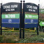 Retail Park Wayfinding Roadside Signs