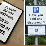 Access signage for private property and Pay-and-Display signs