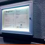Notice boards are ideal for restaurants, this one with lighting kit