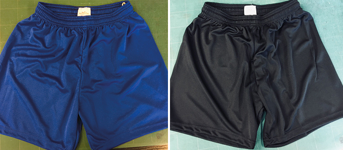Black and Blue Football Shorts