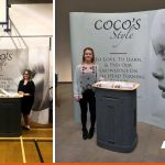 Pop up exhibition display with curve | Large format print | BEL Signs