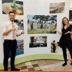 Curved Pop Up Display for South Lodge Hotel job fair | Signage Horsham