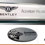 Shaped name badges with branding